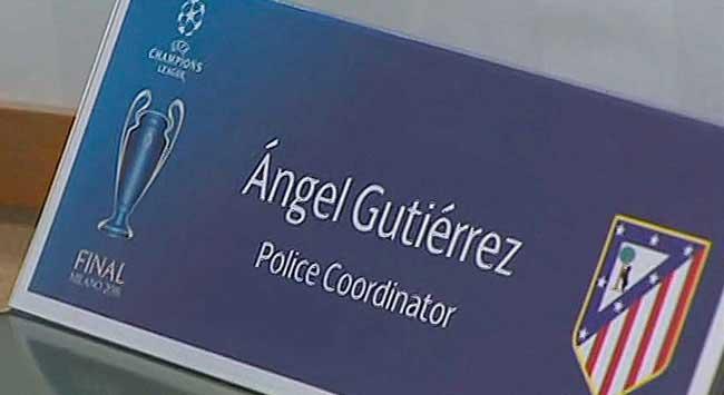 servicios de seguridad encuentro Atlético de Madrid y Ol Marsella