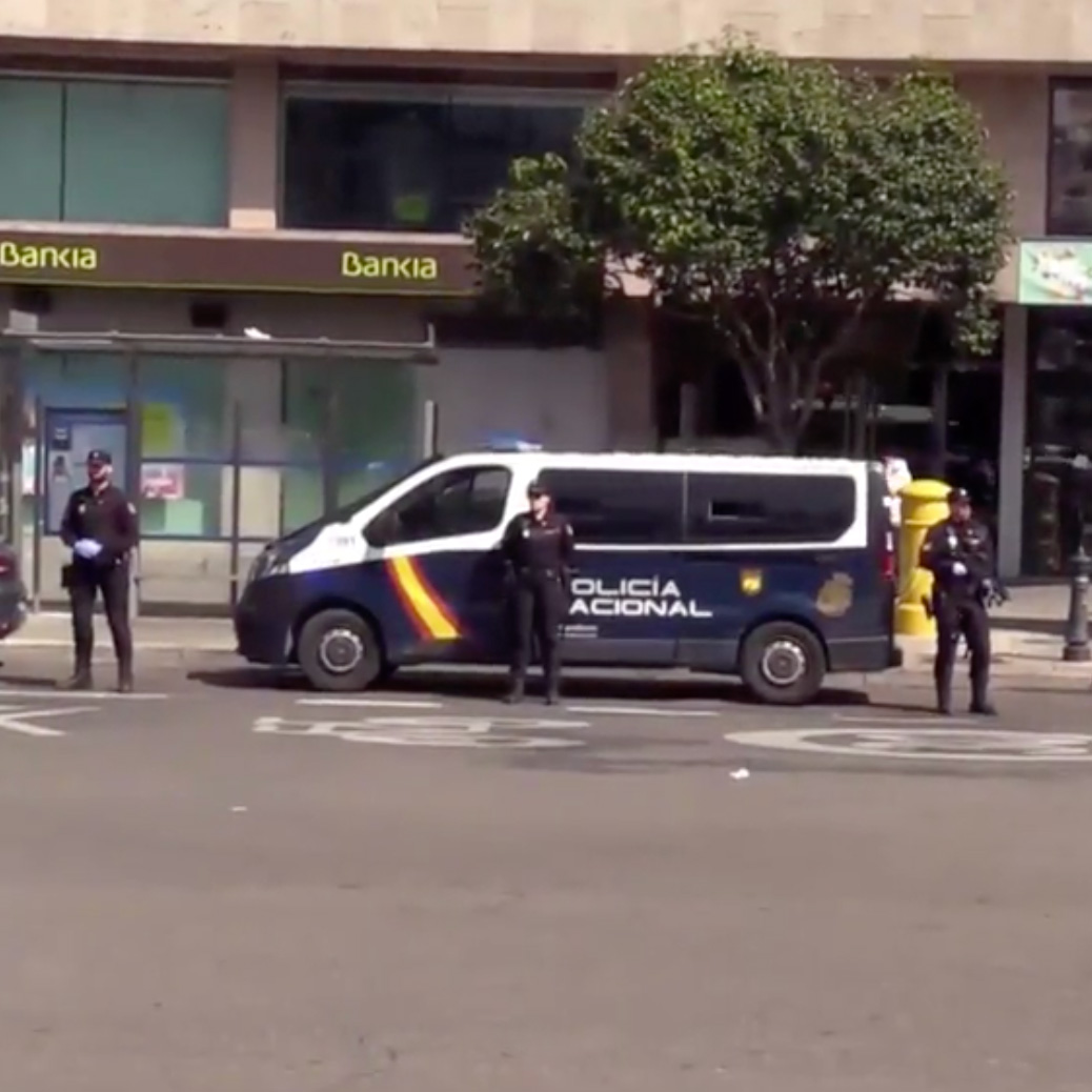 control seguridad Coronavirus en Madrid
