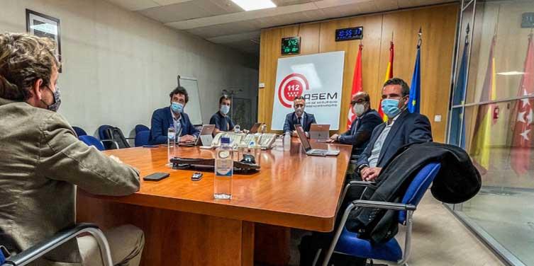 seguridad y emergencias Madrid 112 central receptora alarmas incendios